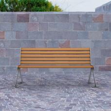 Panchina bicolore con schienale