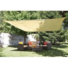 Tela ombreggiante formato quadrato beige - Verdemax